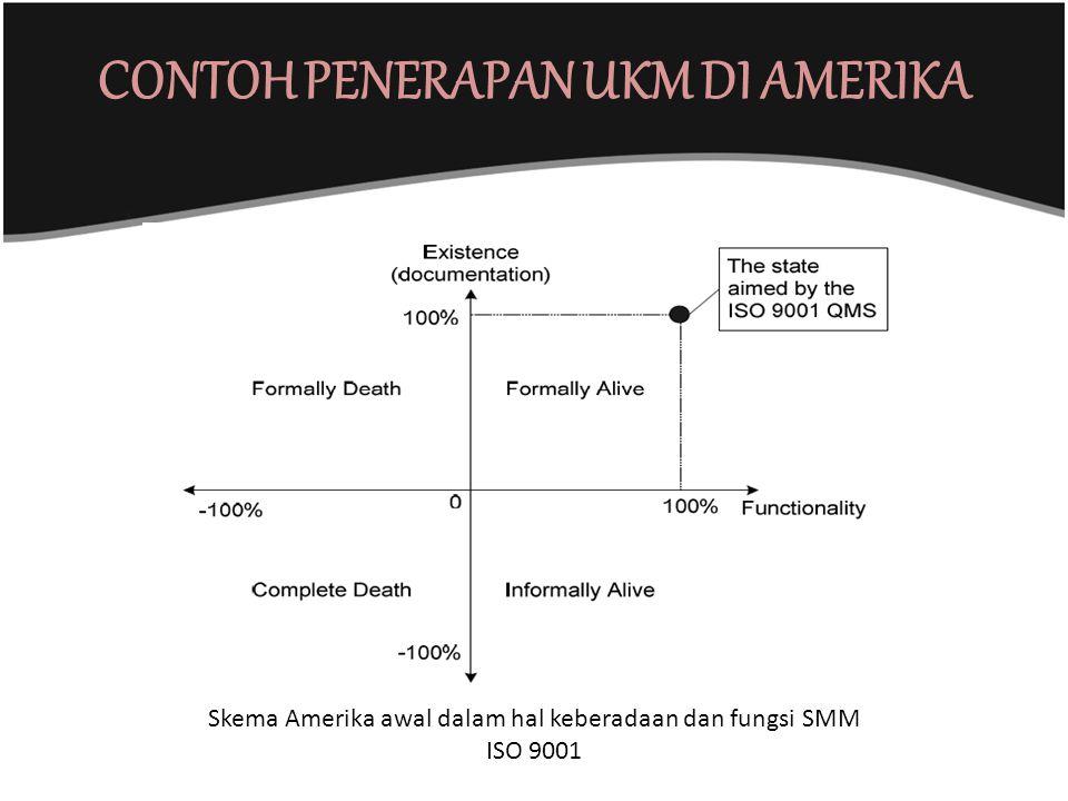 CONTOH PENERAPAN UKM DI AMERIKA Skema Amerika awal dalam hal keberadaan dan fungsi SMM ISO 9001