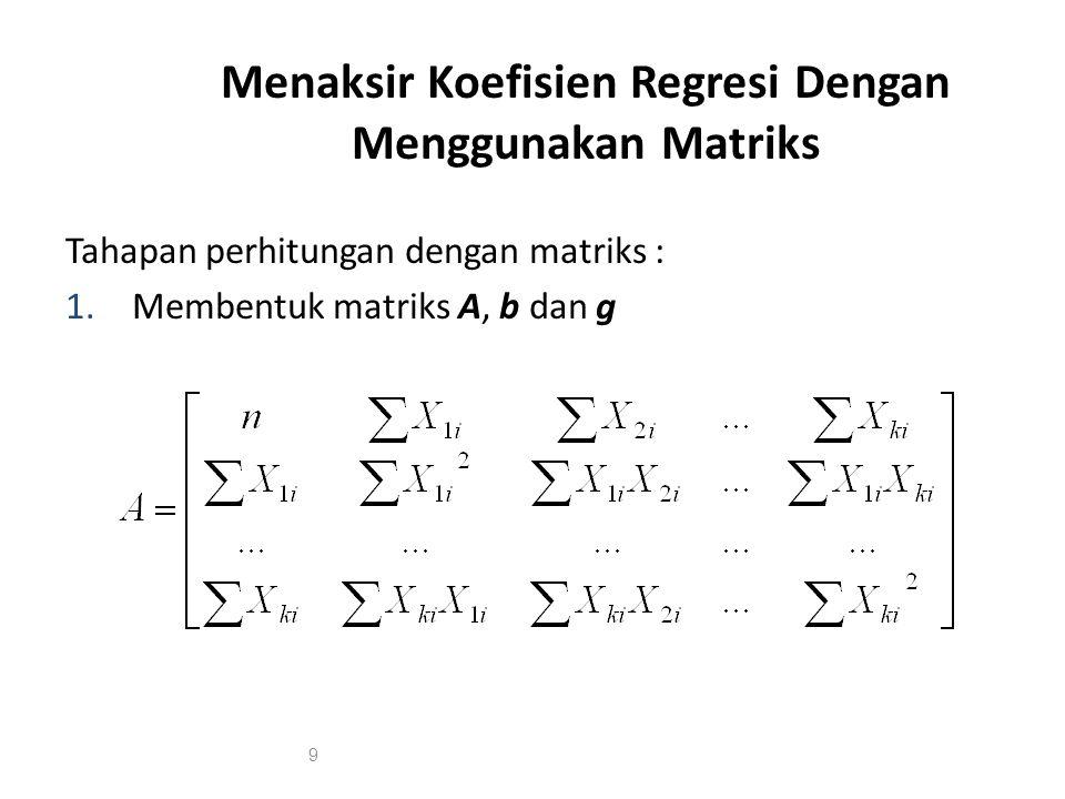 Uji Parsial Koefisien Regresi 2.
