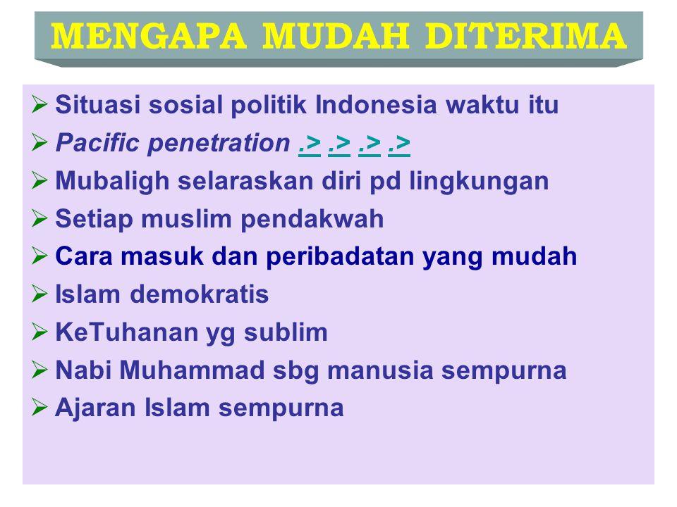 Cara Masuknya Islam Perdagangan Perkawinan Pendidikan (pesantren) Tasawuf Dakwah Kesenian dan Budaya