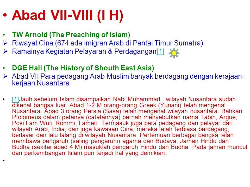Masuk dan Berkembanganya Islam ke Indonesia Abad XIII Tokoh: Snouck Hurgronje, Nj. Kroom, Van Den Bergh, R. Soekmono Dasar: Nisan S. Malik AL Shaleh 6