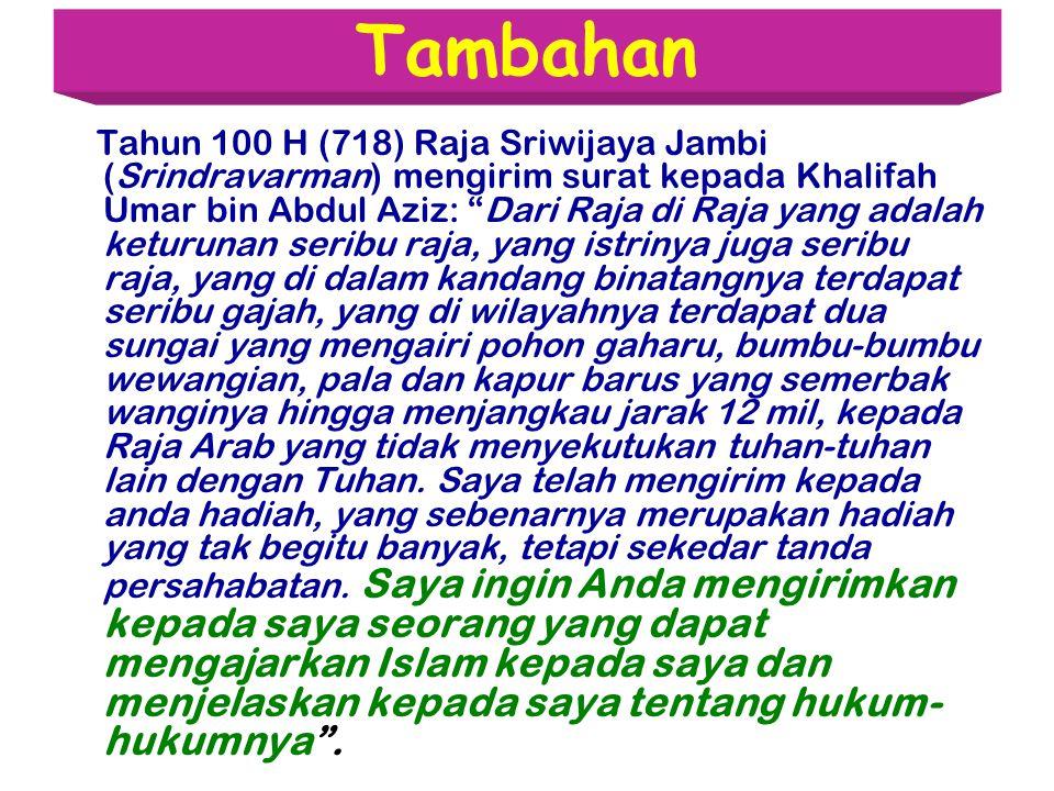 H Agus Salim  Masuknya islam ke Nusantara bersamaan dengan masuknya Islam ke Tiongkok (Cina-Nusantara sudah ramai terjalin hub dagang) Zainal Arifin