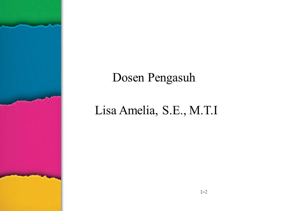 1–2 Dosen Pengasuh Lisa Amelia, S.E., M.T.I