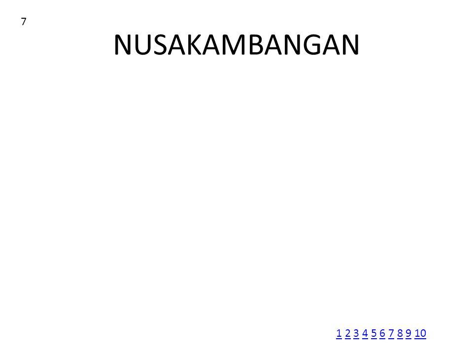 NUSAKAMBANGAN 7 11 2 3 4 5 6 7 8 9 102345678910