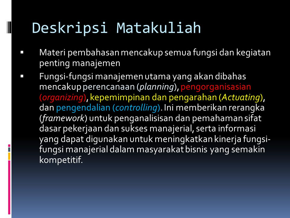 Buku Pegangan AA.F. Stoner, 1996, Manajemen, Edisi Ketiga, Jilid I dan II, Erlangga, Jakarta..
