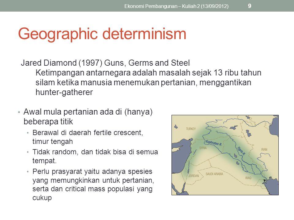 Sentra pertanian prasejarah Ekonomi Pembangunan – Kuliah 2 (13/09/2012) 10