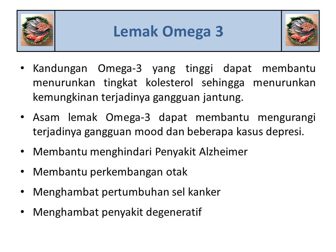 Kandungan Omega-3 yang tinggi dapat membantu menurunkan tingkat kolesterol sehingga menurunkan kemungkinan terjadinya gangguan jantung. Asam lemak Ome