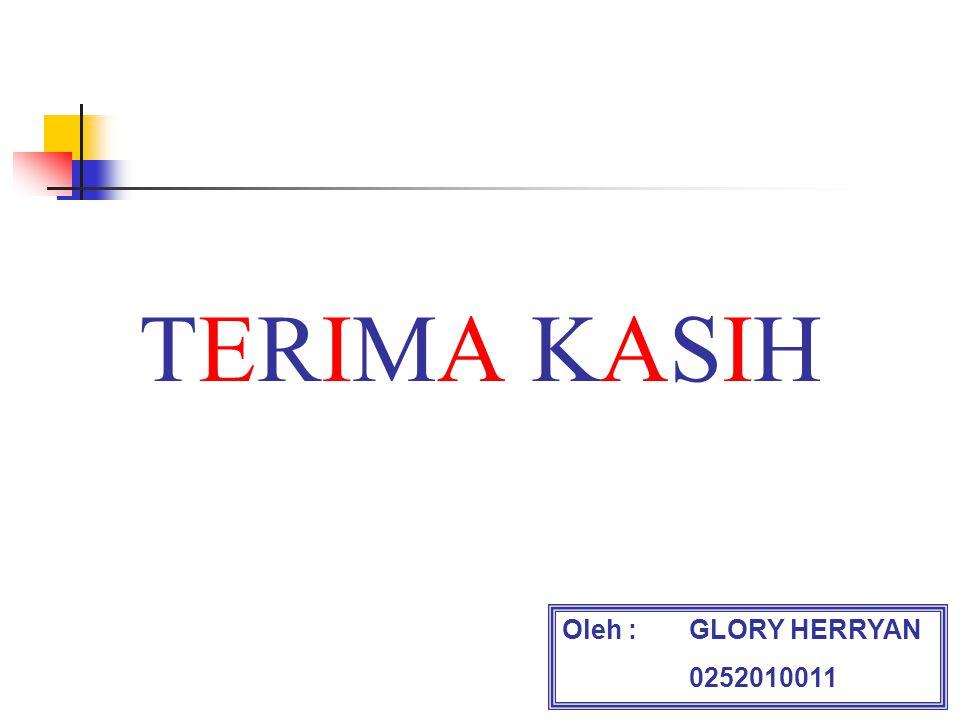 TERIMA KASIH Oleh :GLORY HERRYAN 0252010011