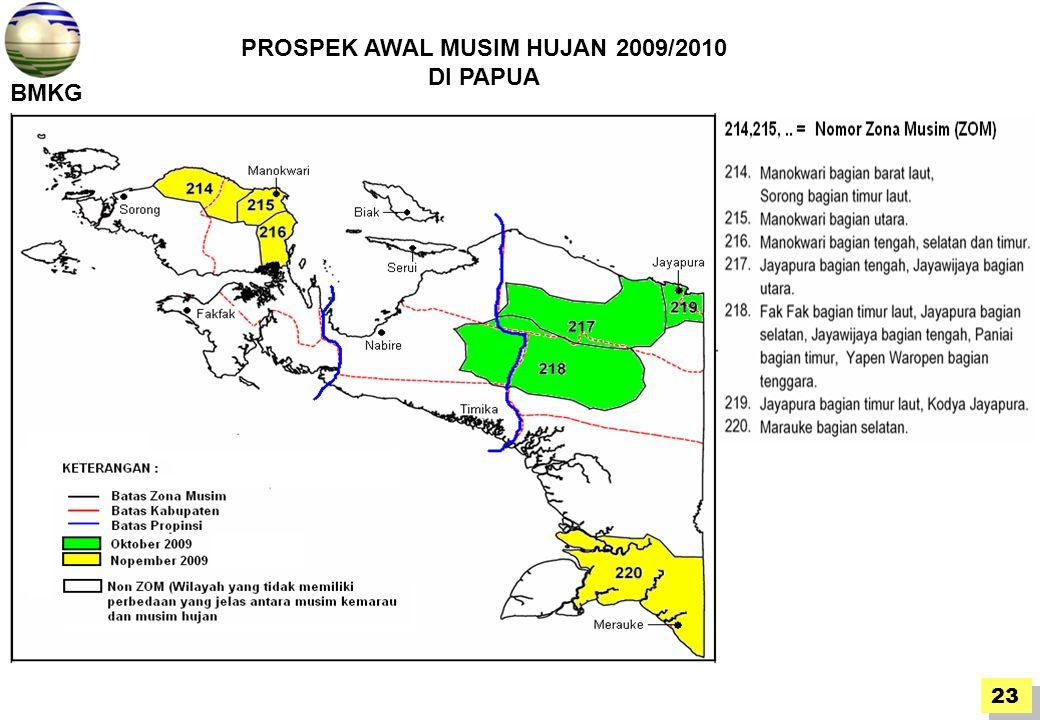 BMKG 23 PROSPEK AWAL MUSIM HUJAN 2009/2010 DI PAPUA