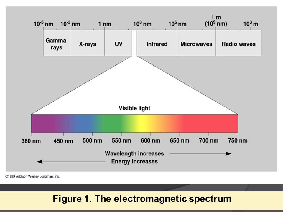 E = h x v v= E/h  wavelength and energy is inversely related  the higher the wavelength the lower the energy
