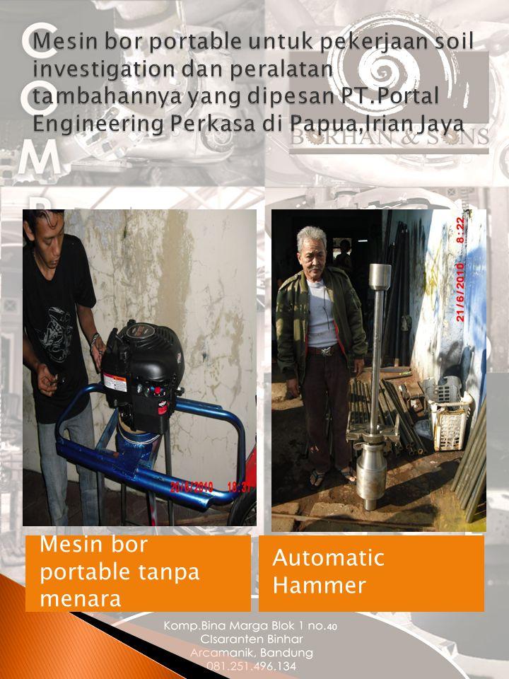 Mesin bor portable tanpa menara Automatic Hammer