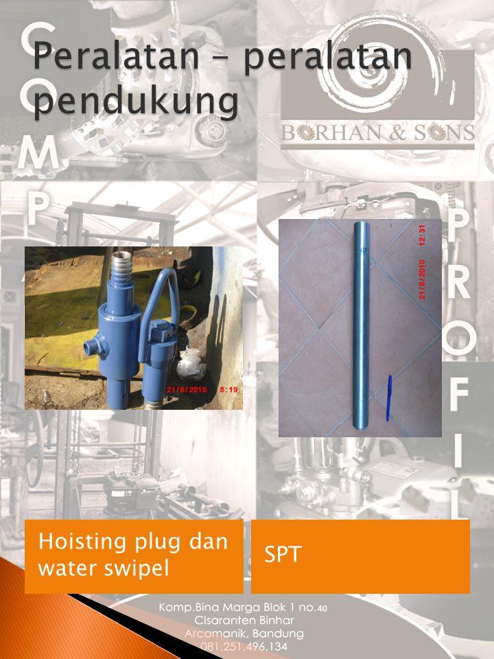 Hoisting plug dan water swipel SPT