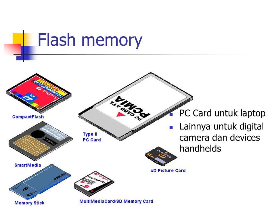 Flash memory PC Card untuk laptop Lainnya untuk digital camera dan devices handhelds