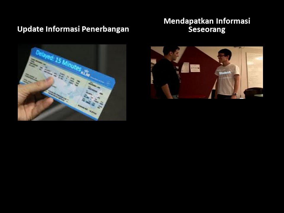 Update Informasi Penerbangan Mendapatkan Informasi Seseorang