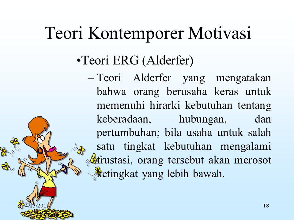 –K–Kepuasan kerja dan ketidakpuasan kerja diciptakan oleh faktor-faktor yang berbeda. Faktor Higienis: faktor ekstrinsik (Lingkungan) yang menciptakan
