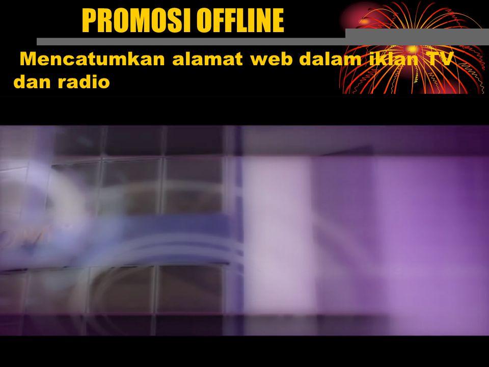 Mencatumkan alamat web dalam iklan TV dan radio