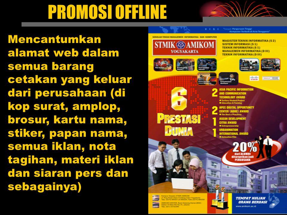 Even, Promosi dan Atraksi Sekarang, promosi semacam itu menjadi event biasa di ribuan situs web.