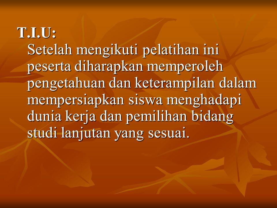 Sifat Kemandirian Sifat bertanggung jawab atas tindakan maupun konsekuensinya