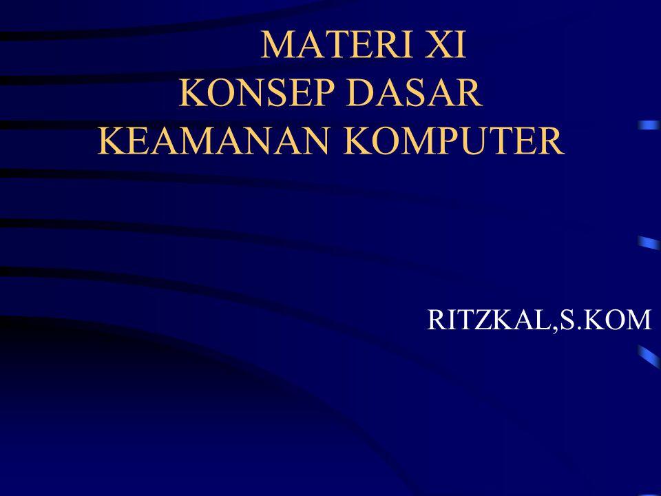 MATERI XI KONSEP DASAR KEAMANAN KOMPUTER RITZKAL,S.KOM