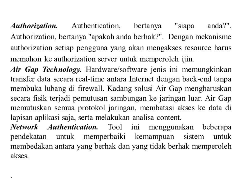 Authorization. Authentication, bertanya