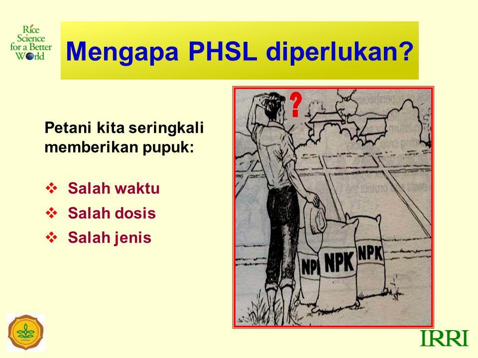 Mengapa PHSL diperlukan.