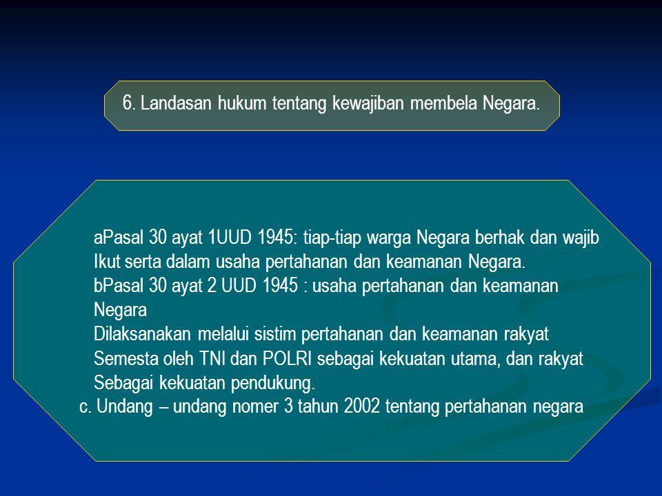 5.Sejarah perjuangan mempertahankan kemerdekaan. Pembinaan rasa kebangsaan.