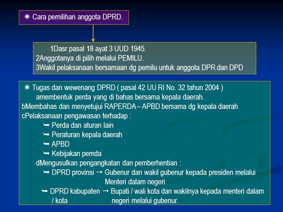 5. BENTUK DAN SUSUNAN PEMERINTAHAN DAERAH DAERAH DPRD ( Legislatif ) Pemerintahan daerah ( Eksekutif )  merupakan wahana Untuk Melaksanakan Demokrasi
