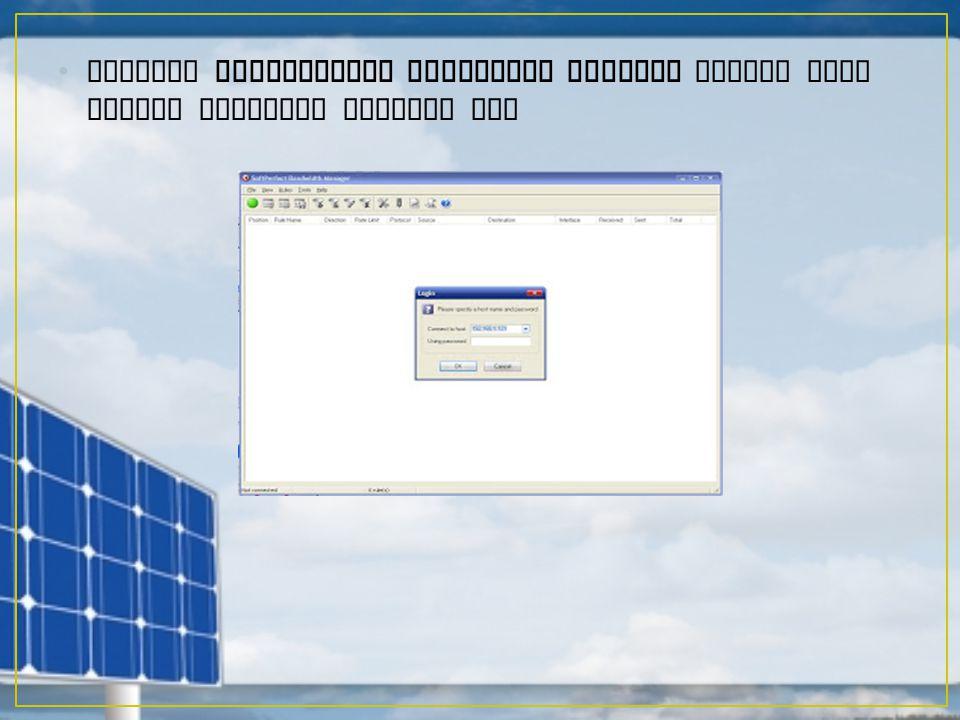 Setelah SoftPerfect Bandwidth Manager dibuka akan tampak tampilan seperti ini