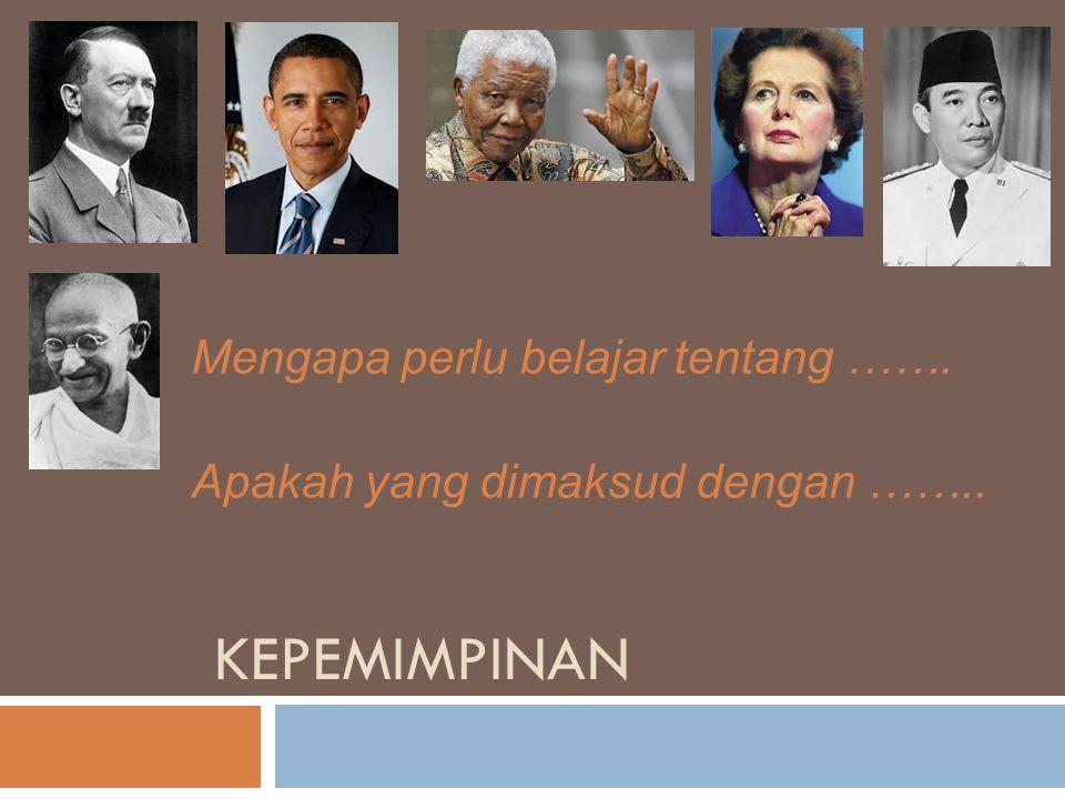 EVALUASI TUGAS PAPER  Apa pendapat kelompok terhadap gaya kepemimpinan Sukarno, Obama dan SBY.