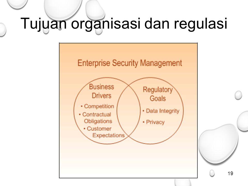 19 Tujuan organisasi dan regulasi