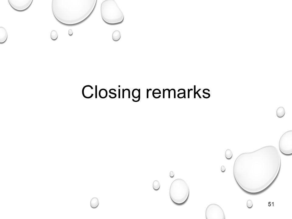 51 Closing remarks