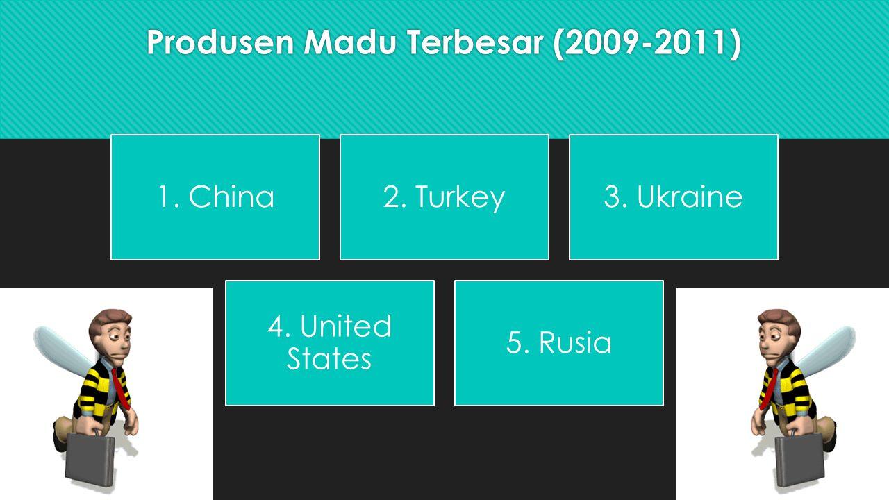 Produsen Madu Terbesar (2009-2011) 1.China2. Turkey3.
