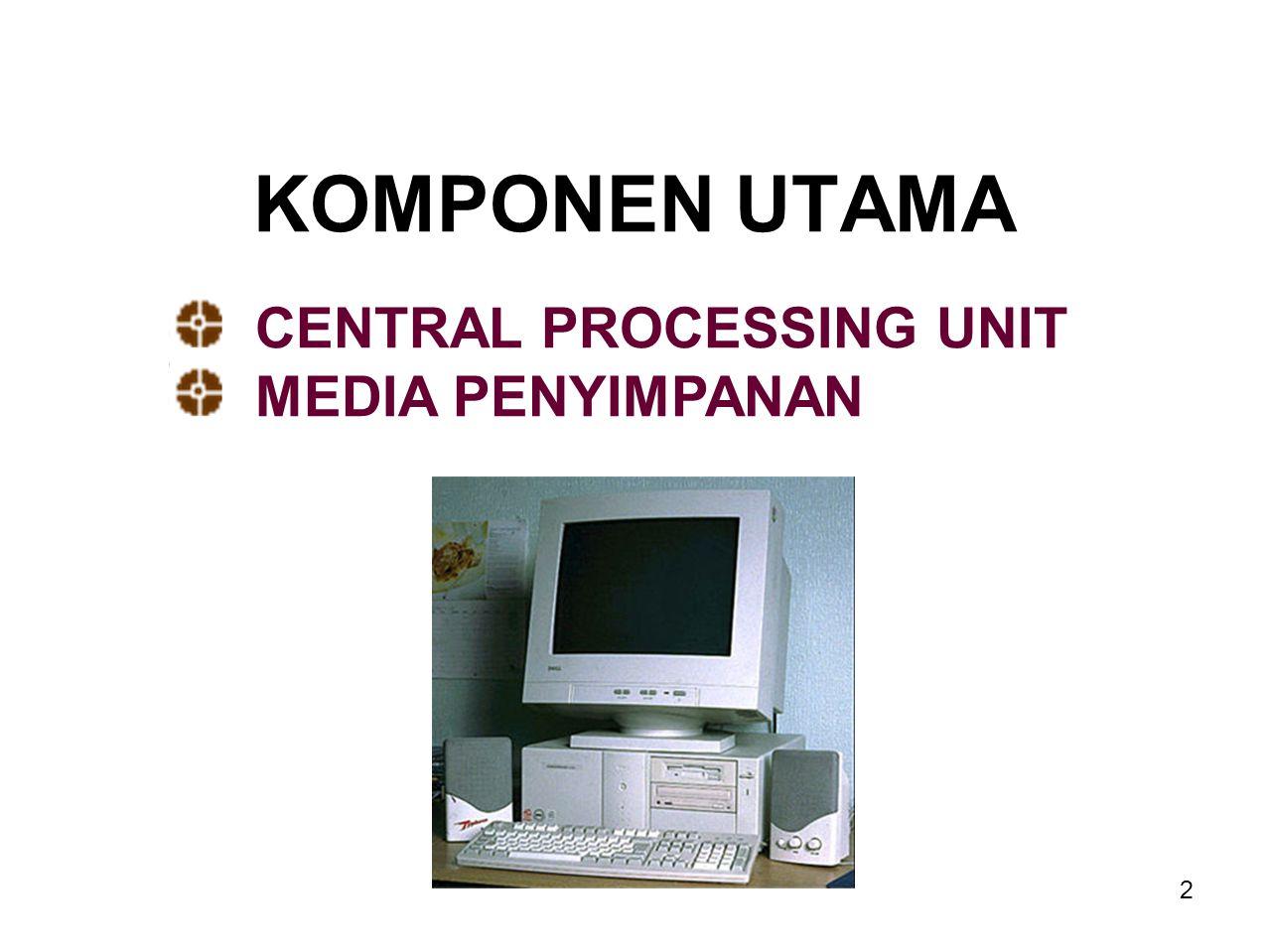 1 Komponen Hardware Input Proses Kontrol Penyimpanan (Storage) Output