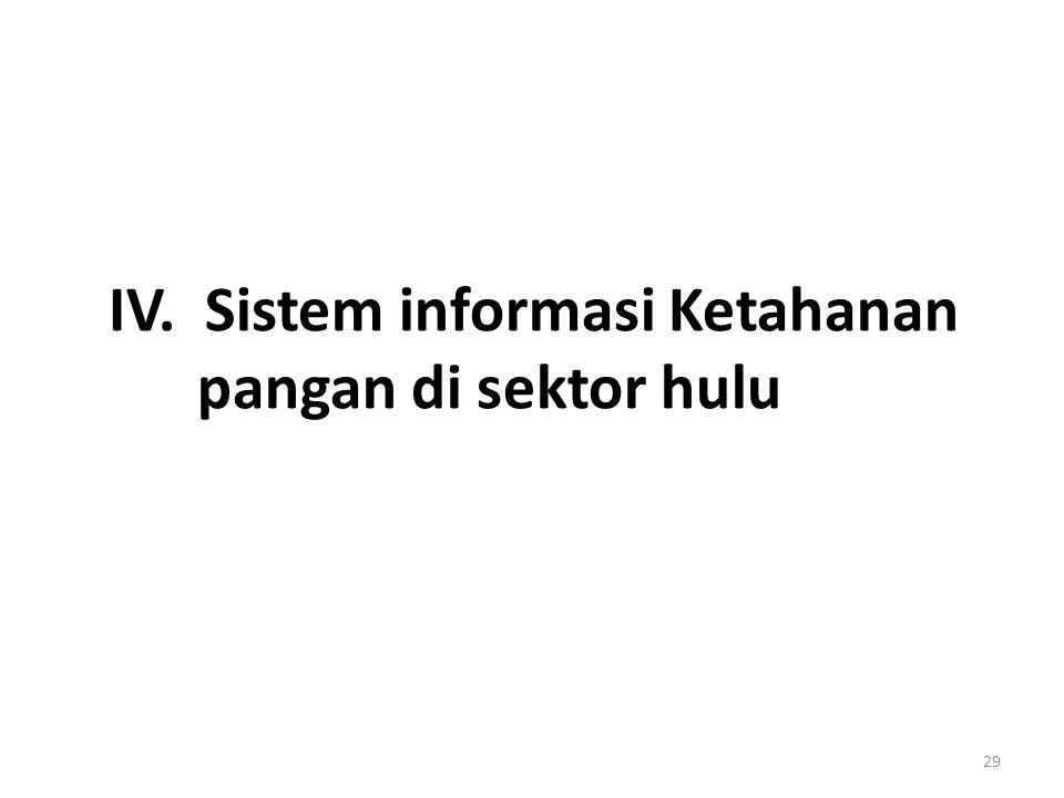 IV. Sistem informasi Ketahanan pangan di sektor hulu 29