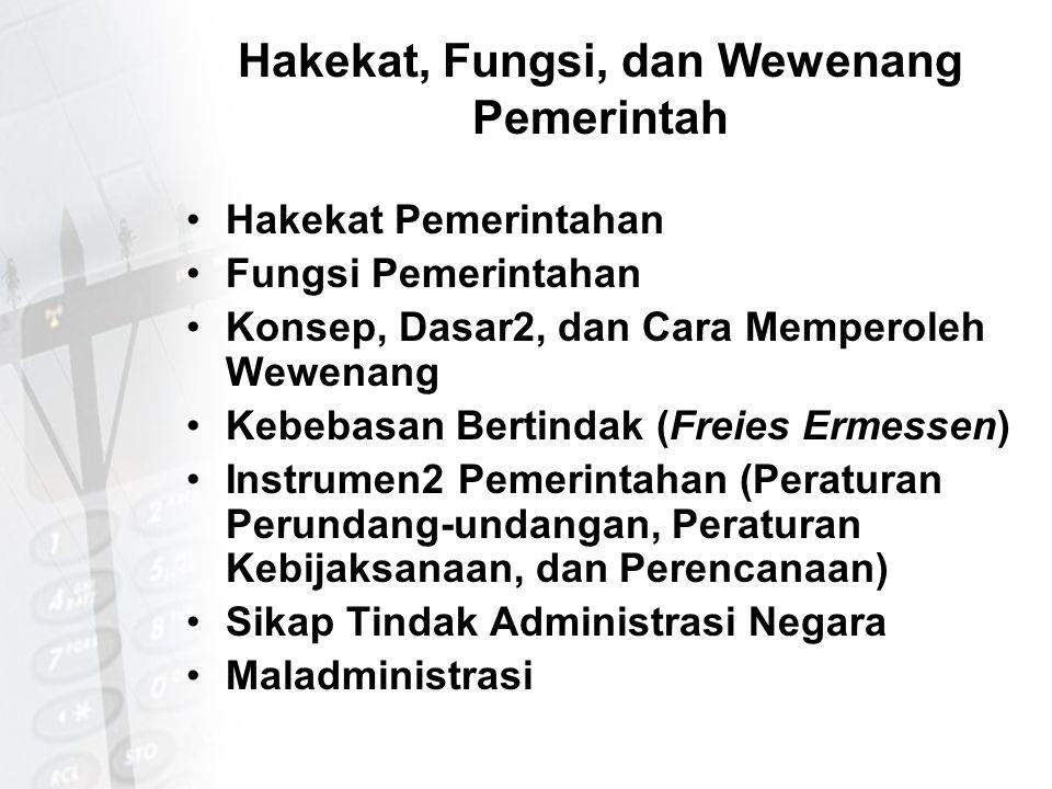 Eksistensi dan Kompetensi Peradilan Administrasi Hukum Administrasi dan Eksistensi Peradilan Administrasi Makna dan Fungsi Peradilan Administrasi Kompetensi Peradilan Administrasi Sengketa Administrasi