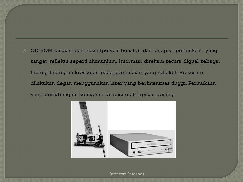  Informasi dibaca dengan menggunakan laser berintensitas rendah yang menyinari lapisan bening tersebut sementara motor memutar disk.