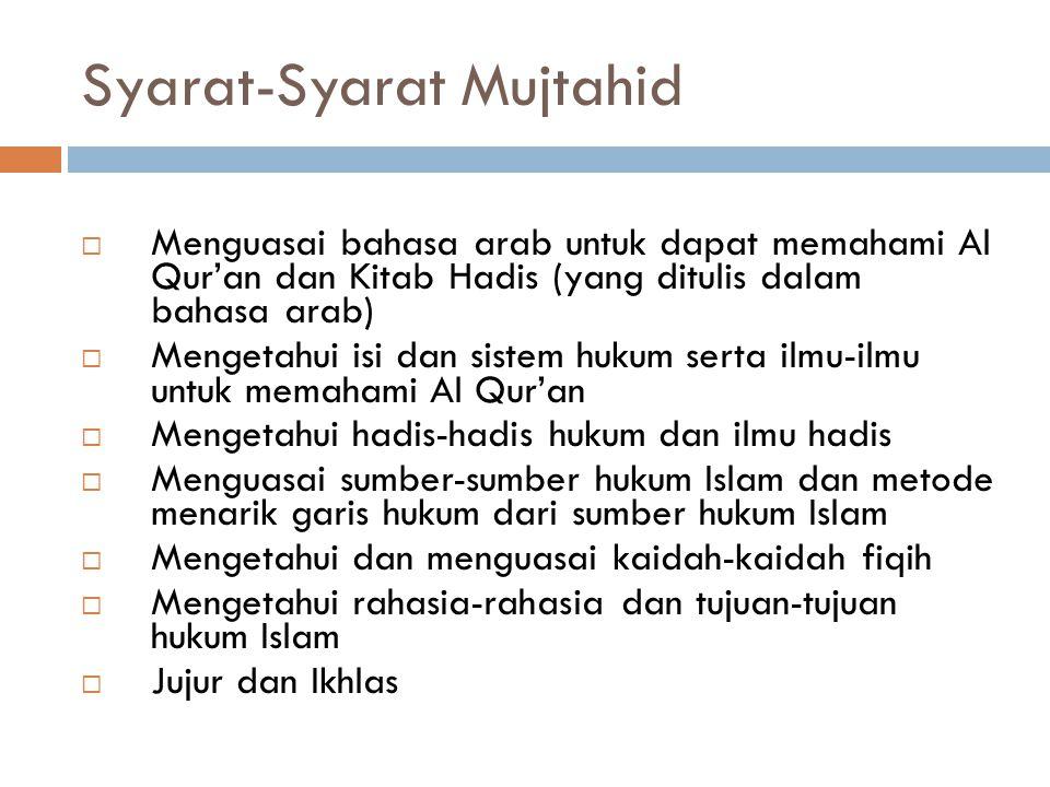  Dilihat dari Objeknya 1. Dilakukan untuk persoalan-persoalan hukum yang bersifat Zhanni (untuk yang bersifat qath'i bukan lapangan ijtihad) 2. Hal-h