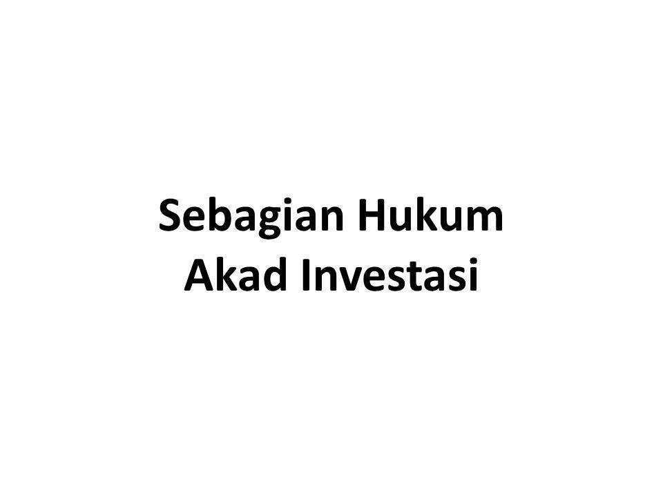 Investor adalah owner.Investor menanggung resiko usaha.