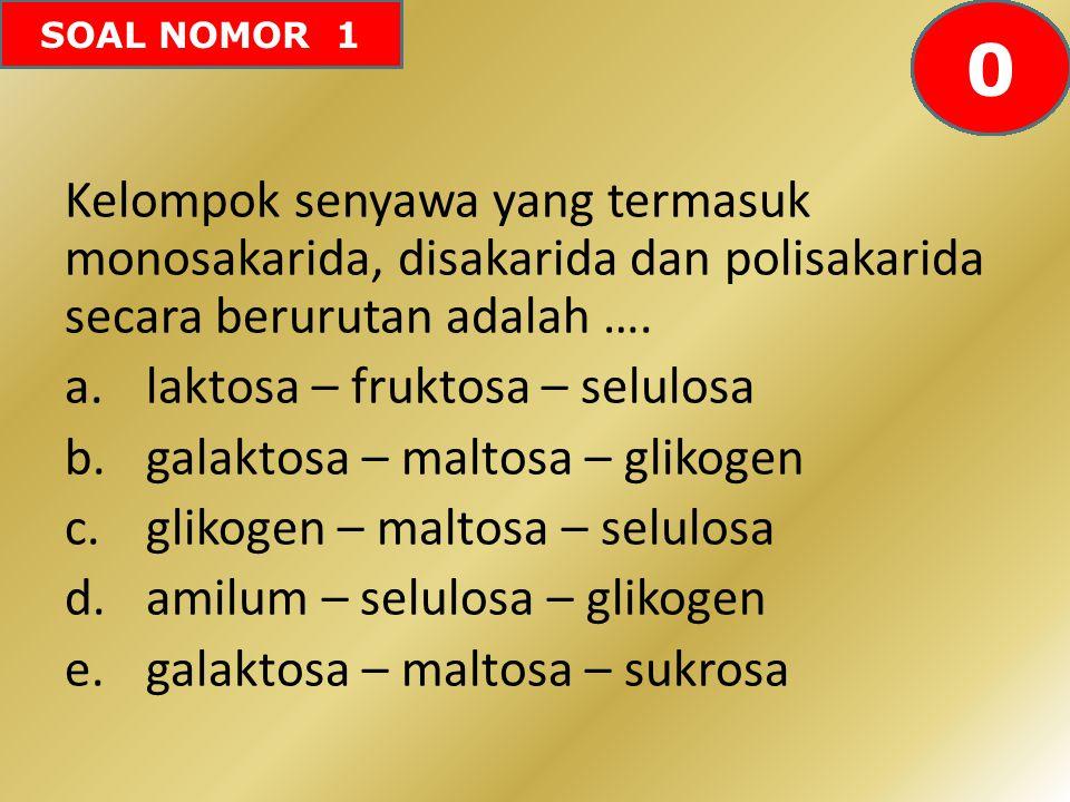 605958575655545352515049484746454443424142403938373634333231302928272625242322212019181716151413121110987654321 0 SOAL NOMOR 1 Kelompok senyawa yang t