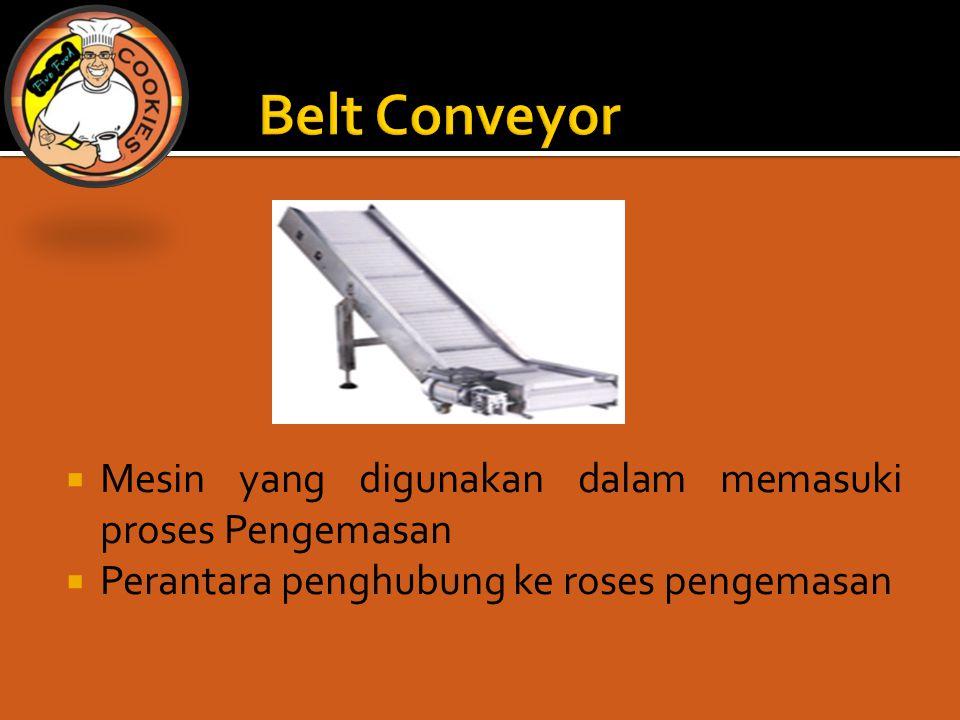  Mesin yang digunakan dalam memasuki proses Pengemasan  Perantara penghubung ke roses pengemasan