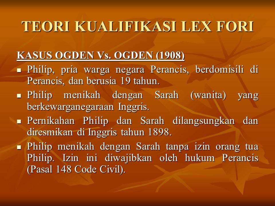 TEORI KUALIFIKASI LEX CAUSE Prof.