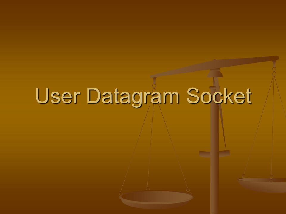 User Datagram Socket