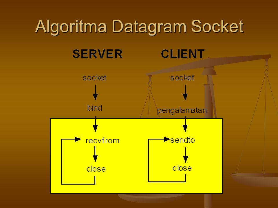 Algoritma Datagram Socket