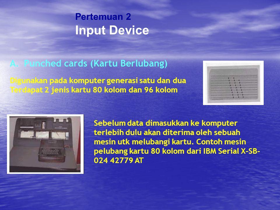 Pertemuan 2 Input Device D.