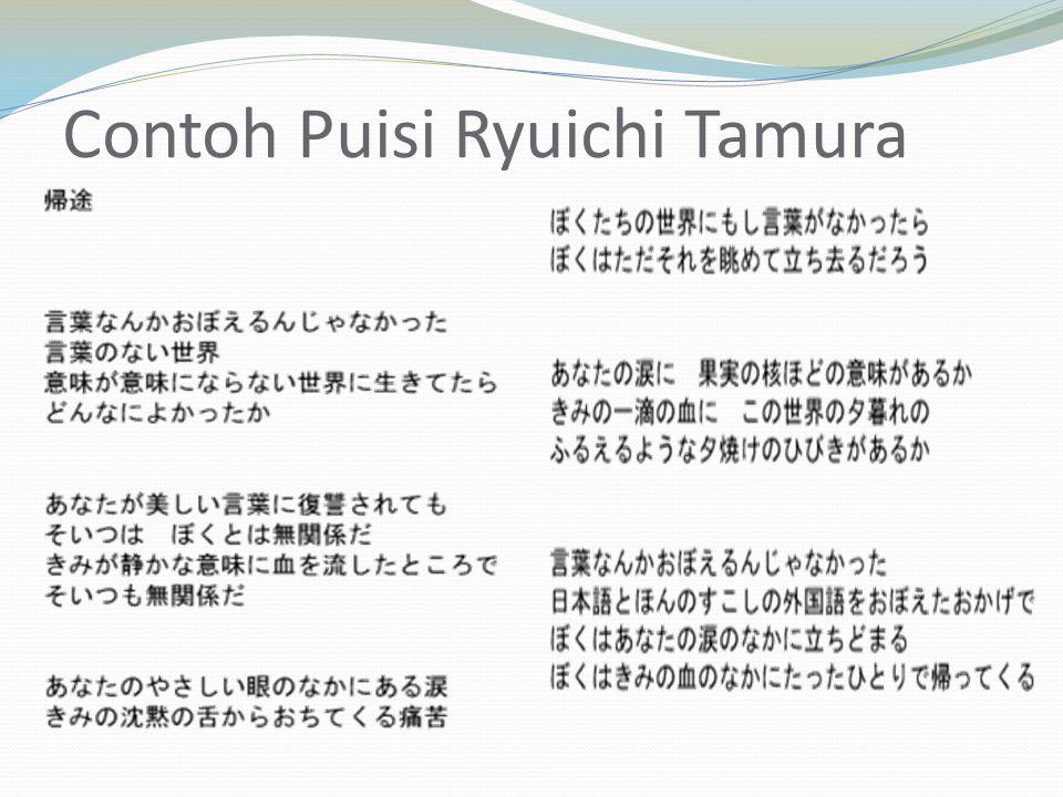Contoh Puisi Ryuichi Tamura
