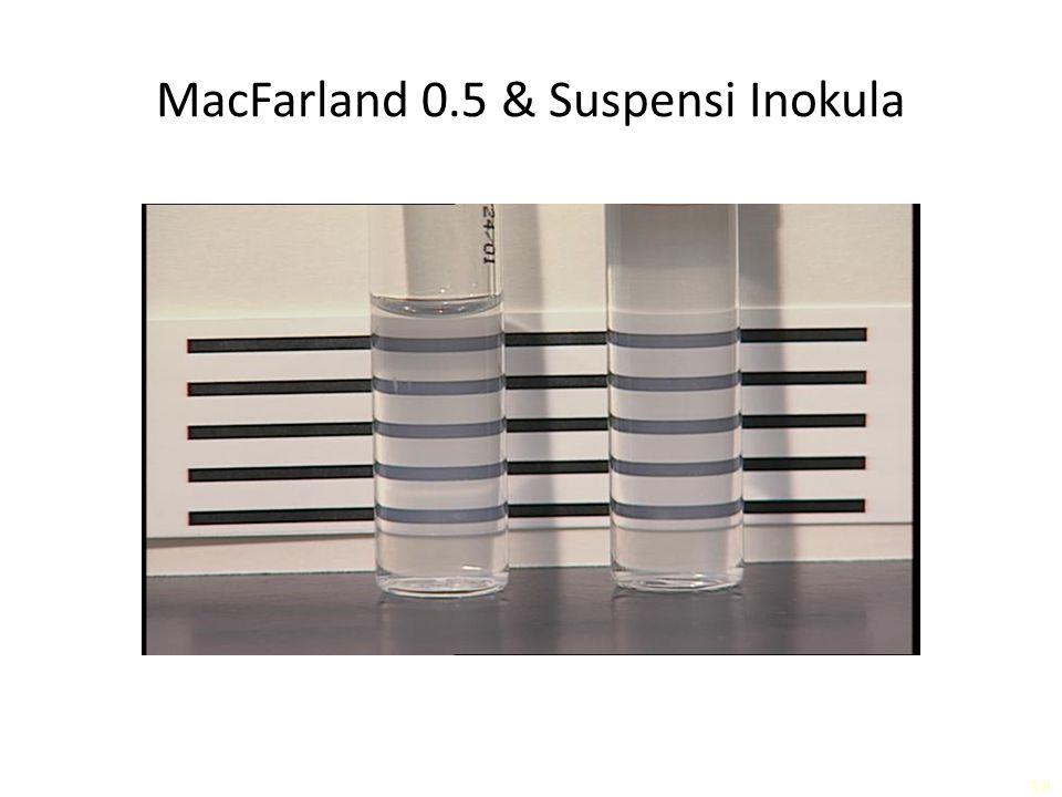 MacFarland 0.5 & Suspensi Inokula 18