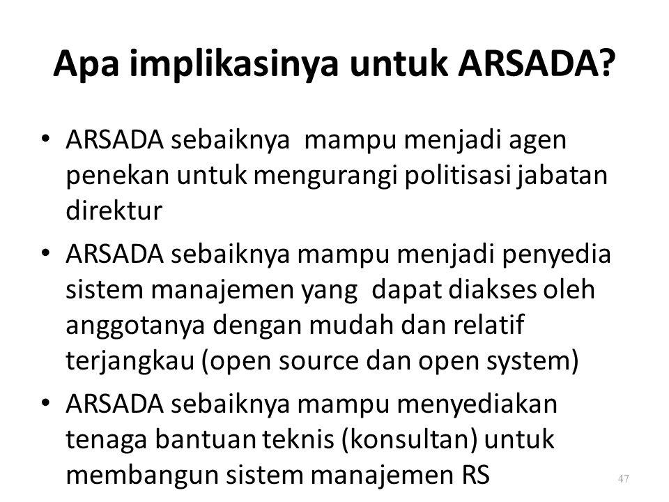 Apa implikasinya untuk ARSADA.