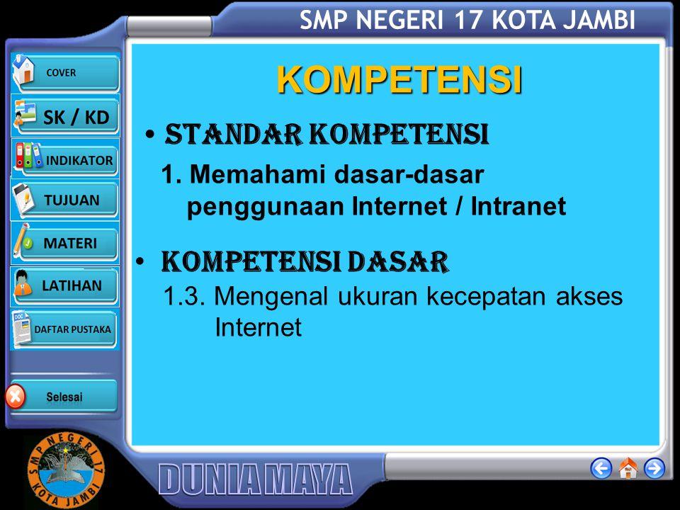 SMP NEGERI 17 KOTA JAMBI DAFTAR PUSTAKA Fairus NH., Terampil Menggunakan Internet (Pelajaran Teknologi Informasi dan Komunikasi untuk SMP Kelas IX , Ganesa, Cetakan Pertama, 2007