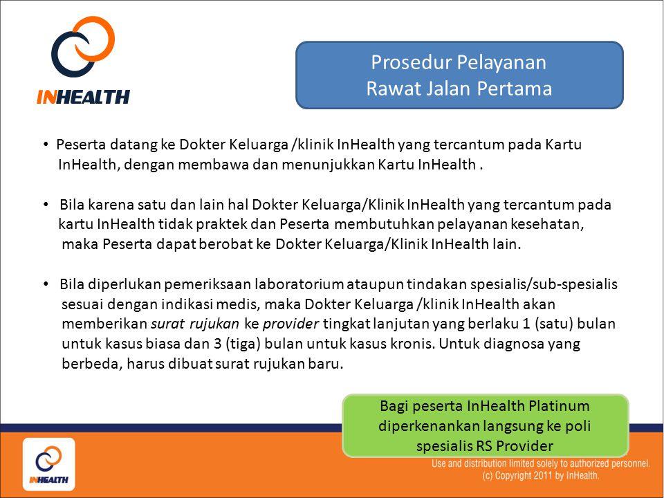 Pelayanan meliputi : o Konsultasi dan penyuluhan kesehatan (pelayanan promotif); o Pencegahan penyakit meliputi perawatan kesehatan ibu dan anak serta