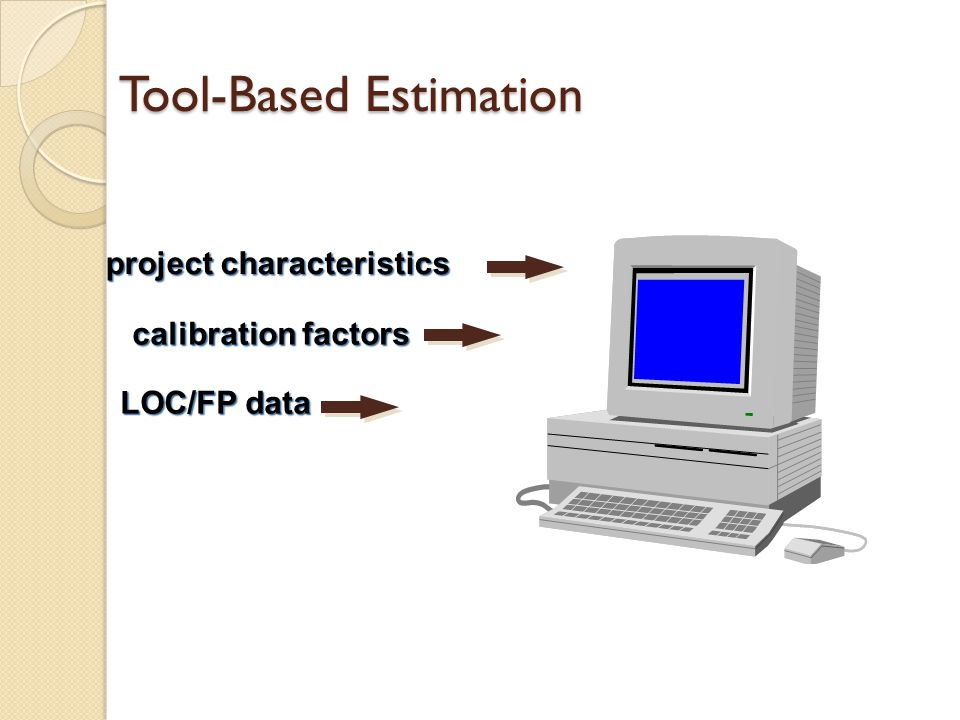Tool-Based Estimation project characteristics calibration factors LOC/FP data