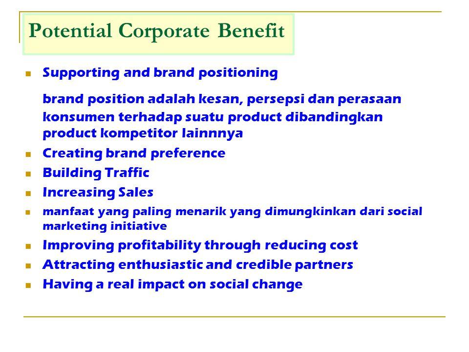 Corporate Philanthropy Kontribusi langsung dari perusahaan untuk kegiatan amal, seringkali dilakukan dalam bentuk tunai, donasi, atau jasa lainnnya.